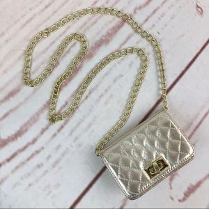 Gold Quilted Mini-Bag